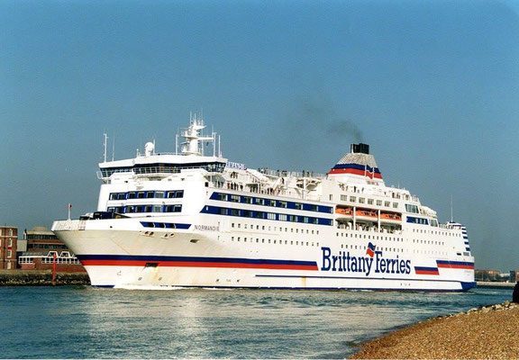 Normandie entering Portsmouth harbour. Courtesy Brittany Ferries.