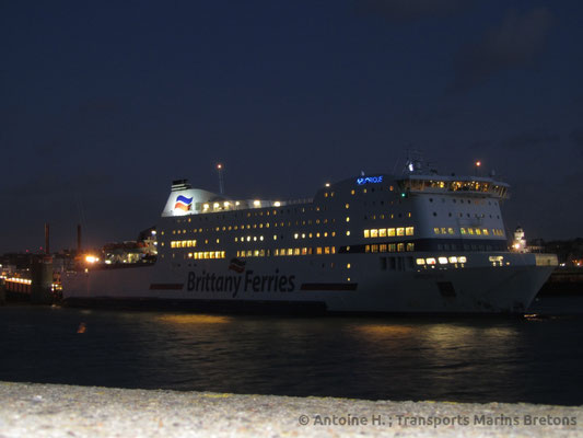 Armorique at night in Saint-Malo. Picture Antoine H.