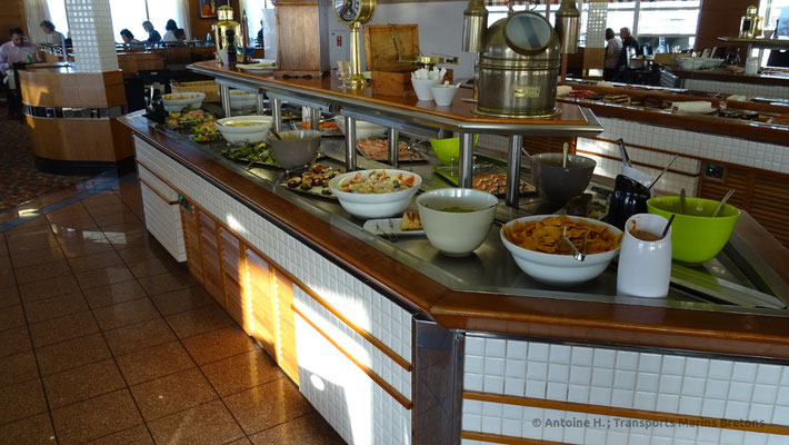 "The buffet in ""Le Deauville"", Normandie's restaurant"