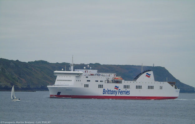 Connemara entering Brest's harbour. Picture Loïc Pialat.
