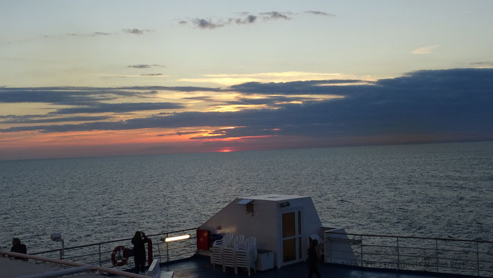 Sunset from Normandie's sun decks