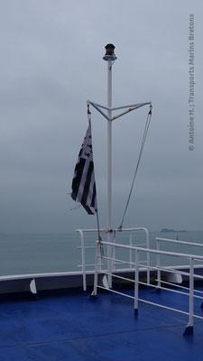 Bretagne's breton flag (the Gwenn Ha Du)