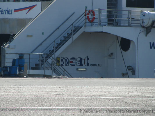 Incat's logo on Normandie Express. Picture Antoine H.
