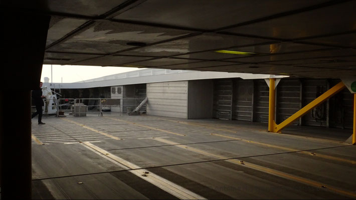 The front of the car deck. Picture Antoine H.