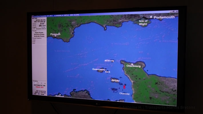 The live map showing Bretagne's position
