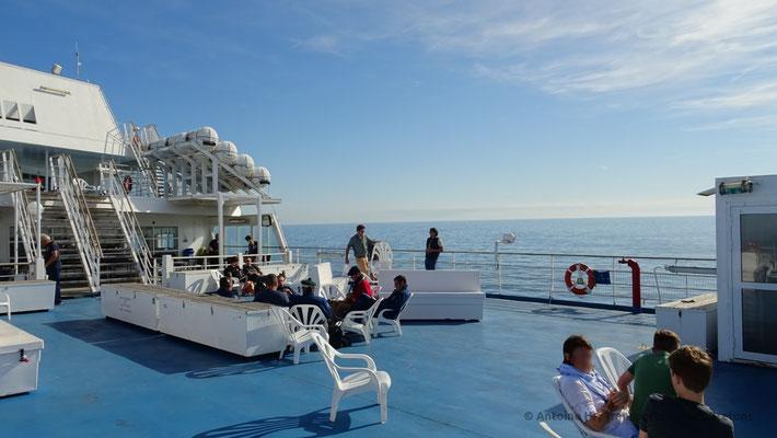 Normandie's aft sun deck