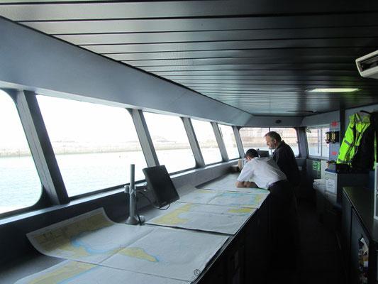 Condor Rapide's starboard bridge wing. Picture Antoine H.