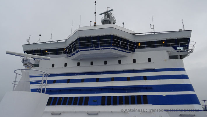 The fore superstructure of Bretagne