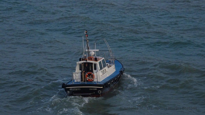 St-Malo's pilot boat, going back to port after having helped Condor Liberation's captain. Picture Antoine H.