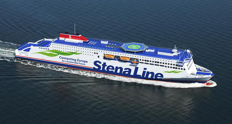 An artist impression of the Stena E-Flexer class. Picture Stena Line.