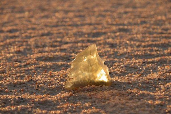 Vetro fossile nella Silica Glass Area