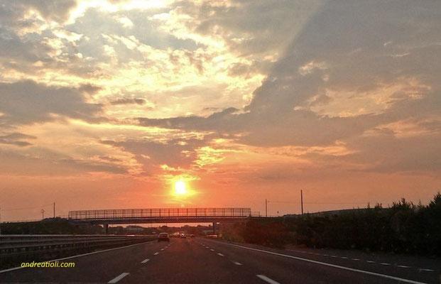 In autostrada