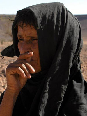 La dignitá di questa nomade incontrata a Tilemsen vicino al confine tra Marocco e Mauritania