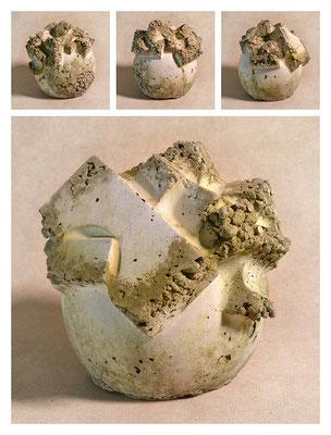 C2BXTXY15V8379 ciment fondu, sand, expanded clay 21x21x19cm, 2015