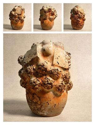 C3BXC60B40Y14V6750 ciment fondu, sand, expanded clay, iron dust 18x25x15cm, 2014