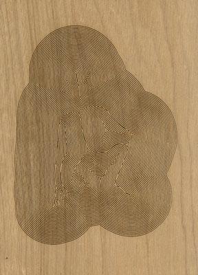 W3L2Y17S1160, marine plywood, 2017, 29x40cm