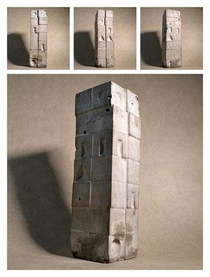 C2C60Y15L7 (1) cemento fuso, sabbia e argilla espansa, h 42cm, 2015