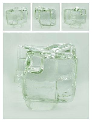 GL0C60X444Y17V21952 glass, 28x28x28 cm, 2017
