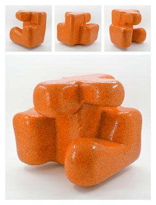 E2C60X333Y17N10 (01) resina epossidica, quarzo, 19x19x19 cm, 2017