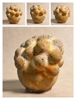 C3BXB40Y14V5100 ciment fondu, sand, expanded clay, iron dust 17x20x15cm , 2014