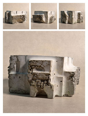 C2C60Y15L2 (1) ciment fondu, sand and expanded clay, h 12cm, 2015