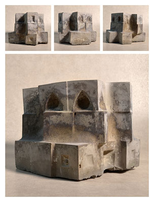 C2C60Y15L3 (1) ciment fondu, sand and expanded clay, h 18cm, 2015