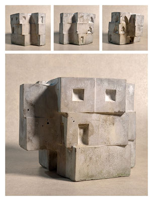 C2C60Y15L3 (2) ciment fondu, sand and expanded clay, h 18cm, 2015