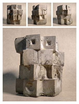 C2C60Y15L4 (3) ciment fondu, sand and expanded clay, h 24cm, 2015