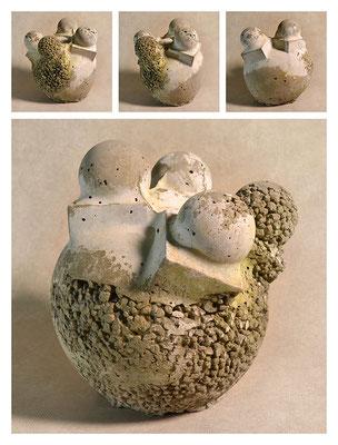 C2BXB65TXY15V11616 ciment fondu, sand, expanded clay 22x24x22cm, 2015
