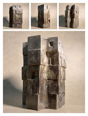 C2C60Y15L5 (3) ciment fondu, sand and expanded clay, h 30cm, 2015
