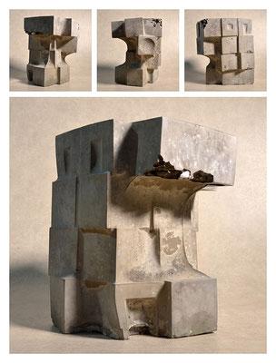 C2C60Y15L4 (4) cemento fuso, sabbia e argilla espansa, h 24cm, 2015
