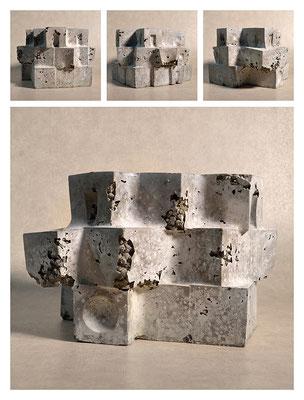 C2C60Y15L3 (4) cemento fuso, sabbia e argilla espansa, h 18cm, 2015