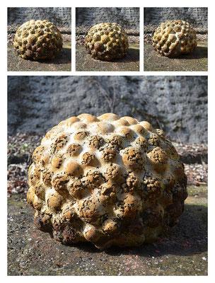 C3B65B40Y14V49569 cemento fuso, sabbia, argilla espansa, ferro 39x31x41cm, 2014