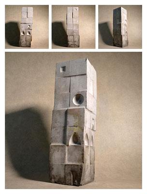 C2C60Y15L7 (2) cemento fuso, sabbia e argilla espansa, h 42cm, 2015