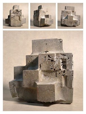 C2C60Y15L4 (2) ciment fondu, sand and expanded clay, h 24cm, 2015