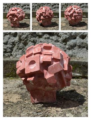 C5C60TXY15V19604 cemento bianco, polvere di marmo, pigmento 26x29x26cm, 2015
