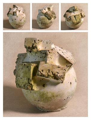 C2BXTXY15V7128 ciment fondu, sand, expanded clay 18x22x18cm, 2015