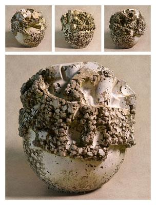 C2BXTXY15V19604 ciment fondu, sand, expanded clay 26x29x26cm, 2015