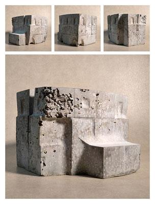 C2C60Y15L3 (6) cemento fuso, sabbia e argilla espansa, h 18cm, 2015