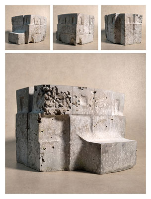 C2C60Y15L3 (6) ciment fondu, sand and expanded clay, h 18cm, 2015