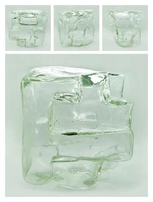 GL0C60X444Y17V21060 glass, 27x30x26 cm, 2017