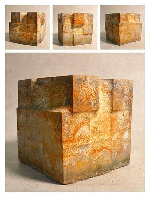 C3C60Y14V6840 cemento fuso, sabbia, argilla espansa, ferro 20x18x19cm, 2014
