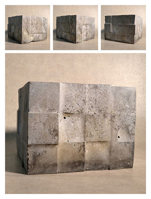 C2C60Y15L3 (7) ciment fondu, sand and expanded clay, h 18cm, 2015