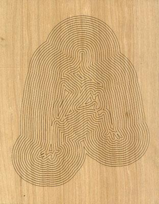 W3L4Y17S1240, marine plywood, 2017, 31.5x40cm