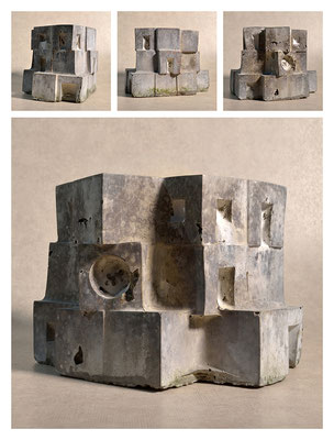 C2C60Y15L3 (3) ciment fondu, sand and expanded clay, h 18cm, 2015