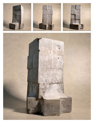 C2C60Y15L5 (1) ciment fondu, sand and expanded clay, h 30cm, 2015
