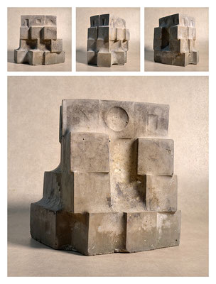 C2C60Y15L4 (1) ciment fondu, sand and expanded clay, h 24cm, 2015