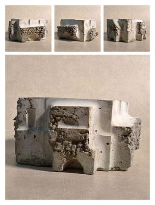 C2C60Y15L2 (1) cemento fuso, sabbia e argilla espansa, h 12cm, 2015