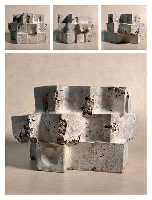 C2C60Y15L3 (4) ciment fondu, sand and expanded clay, h 18cm, 2015