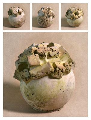 C2BXTXY15V12650 ciment fondu, sand, expanded clay 22x25x23cm, 2015